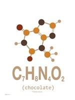 Molecule Chocolate Clean Fine Art Print