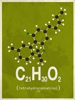Molecule THC - Green Fine Art Print