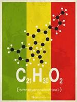 Molecule THC - Stripes Fine Art Print