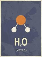 Molecule Water Fine Art Print
