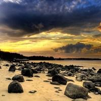 Rocks on Beach Fine Art Print