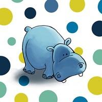 Hippo Dots Fine Art Print