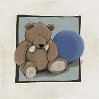 Teddy Bear and Ball Framed Print