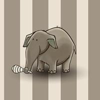 Elephant Stipes Framed Print