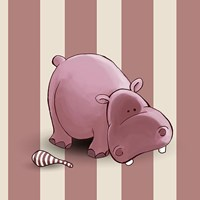 Hippo Stripes Fine Art Print