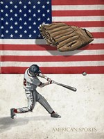 American Baseball 1 Fine Art Print