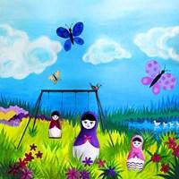 Babushka Play Fine Art Print