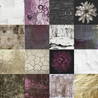 Tiles Decor Purple Fine Art Print