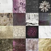 Tiles Decor Purple Fine Art Print