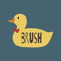 Duck Family Boy Brush Fine Art Print