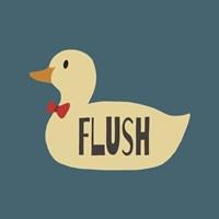 Duck Family Boy Flush Framed Print