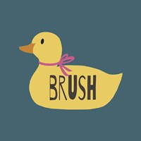 Duck Family Girl Brush Fine Art Print