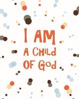 I Am A Child Of God Radial Dots Orange Fine Art Print