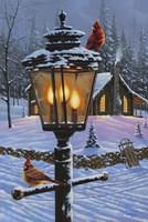 Cardinal Perch Fine Art Print