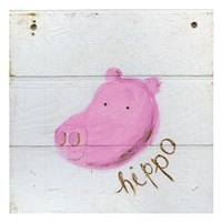 Happy Pink Hippo Fine Art Print