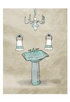 Chip Teal Sink Fine Art Print