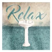 Relax Sink Teal Fine Art Print