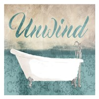 Unwind Bath Teal Fine Art Print