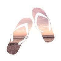 Sandy Sandals Fine Art Print
