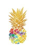 Gold Leaf Pineapple Framed Print