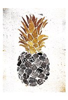 Golden Mandala Pineapple Fine Art Print