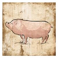 Cream Pig Fine Art Print