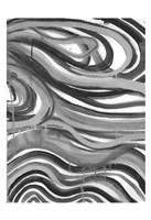 Charcoal Ripples 1 Framed Print