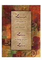 Live Laugh Love Autumn Blooms Fine Art Print