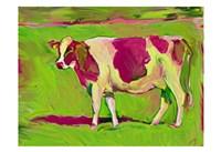 Pink Cow 2 Fine Art Print