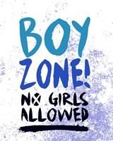 Boy Zone-Grunge Framed Print