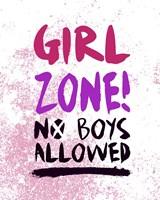 Girl Zone-Grunge Fine Art Print