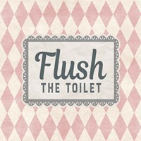 Flush The Toilet Pink Pattern Fine Art Print