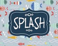 Splish and Splash Fish Pattern Blue Part II Fine Art Print