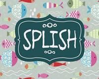 Splish and Splash Fish Pattern Green Part I Fine Art Print