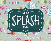 Splish and Splash Fish Pattern Green Part II Fine Art Print
