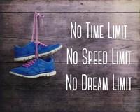 No Time Limit No Speed Limit No Dream Limit Blue Shoes Fine Art Print