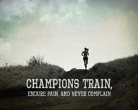 Champions Train Woman Black and White Fine Art Print
