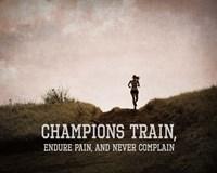 Champions Train Woman Color Fine Art Print