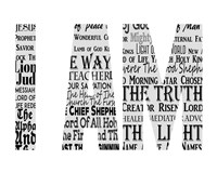 Names of Jesus I AM Silhouette White Fine Art Print