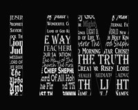 Names of Jesus I AM Silhouette Black Fine Art Print