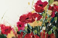 Poppies and Flowers on White Fine Art Print