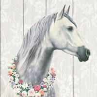 Spirit Stallion I on wood Square Fine Art Print