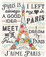 Travel Blossoms I Light Fine Art Print