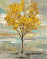 Golden Tree and Fog I Framed Print