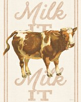 Milk it Milk it Framed Print