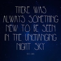 Night Sky - Fritz Leiber Quote Fine Art Print