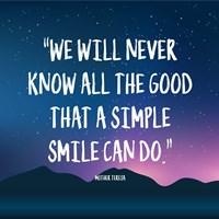 Simple Smile - Mother Teresa Quote (Dusk) Fine Art Print