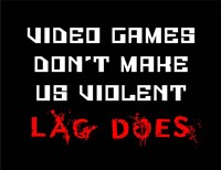 Video Games Don't Make us Violent - Black Fine Art Print