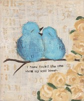 Blue Birds Fine Art Print