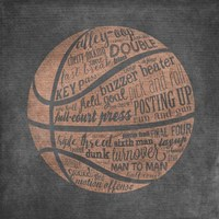 Basketball Terms Framed Print